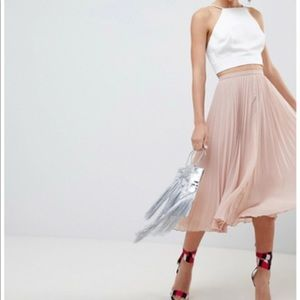 ASOS Ballet Pink Pleated Skirt, 6